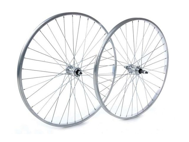 Tru-Build 26 X 1.75 Rear Wheel, Alloy Hub, Silver Screw On click to zoom image